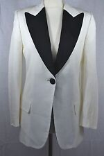 DOLCE & GABBANA white jacket black lapels designer blazer tuxedo evening