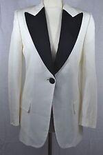 DOLCE & GABBANA white jacket black lapels designer blazer tuxedo evening
