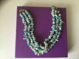 Genuine Turquoise and Pearl Choker Necklace