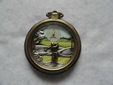 Vintage Fossil Quartz GOLF Pocket Watch