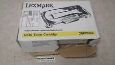LEXMARK 20K0502 Toner, 3000 Page-Yield, Yellow, TESTED! FREE SHIPPING!