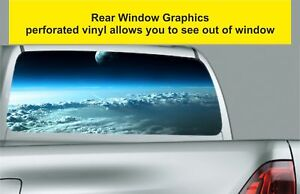 Window Graphic Tint Truck Jeep SUV Above The Clouds Sticker Decal 36
