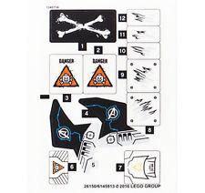 LEGO Super Heroes 76050 Crossbones Hazard Heist STICKER SHEET