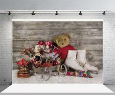 Christmas Children Photography Backdrop Vinyl 5x3Ft Background Studio Props