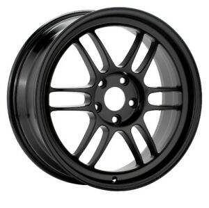 17x7 Enkei RPF1 5x114.3 +45 Black Rims Fits Eclipse Talon Civic Type R