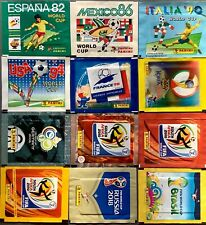 PANINI WORLD CUP FOOTBALL STICKER PACKETS 1974 TO 2018 - CHOOSE PACK FROM LIST