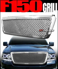 CHROME LUXURY MESH FRONT HOOD BUMPER GRILL GRILLE GUARD ABS 2004-2008 FORD F150