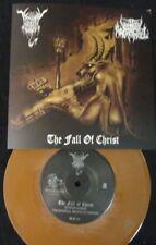 "BLACK ANGEL / UNHOLY ARCHANGEL - The Fall of Christ. 7"" Split EP SOLID BROWN VIN"
