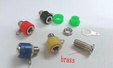 50 pcs brass Banana Socket Jack FOR 4mm BANANA Plug  Test Cable connector