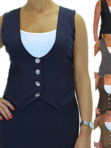 Ladies Business Fully Lined Washable Office Day Smart Waistcoat 10-20