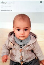 Rico Design Baby Jacket with Hood or Collar Merino DK Knitting Pattern 272