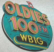 Rare Vtg WBIG Oldies 100 FM T SHIRT Washington DC MARYLAND Music Radio RETRO Tee