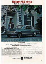 1964 Plymouth Valiant Signet Blue 2-door Hardtop Automobile Car Vtg Print Ad