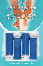 4 Pk Emjoi Micro Pedi Replacement Refill Rollers Feet Callus Removal Scrub Foot
