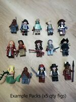 LEGO Pirates of the Carribean Minifigures x5 Figs per order - jack sparrow +