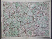 Dunlop Strassenkarte 62 Bad Kissingen, Aschaffenburg, Schweinfurt, ca. 1927