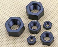 Kunststoff Mutter Schwarz Nylon Sechskantmutter DIN 934 M2,2.5,3,4,5,6,8,10,12