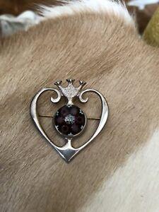 Caithness Glass Silver Brooch