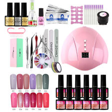 UV Gel Nail Polish Kit Starter Manicure Set 36W LED Nail Lamp Base Top Coat Tool