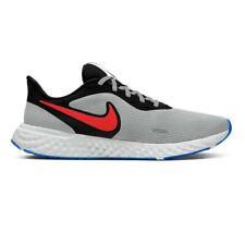 Scarpe da Uomo Nike Revolution 5 Sneakers Sportive Running Grigio Nero Rosso