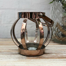 Bronze Home Metal Tea Light Candle Lantern Holder Votive Wedding Table Ornament
