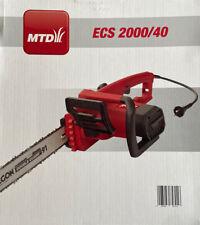 MTD ECS 2000/40, Elektro Kettensäge