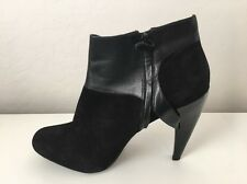 Maria Sharapova for Cole Haan Ladies Black Leather& Suede Ankle Boot Size 9.5B