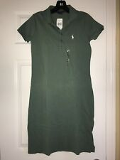 NWT Ralph Lauren Women Green Pony Polo Dress  Sz. XS