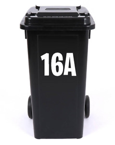 WHEELIE BIN RECYCLING BOX NUMBER LETTER STICKERS VINYL DECAL