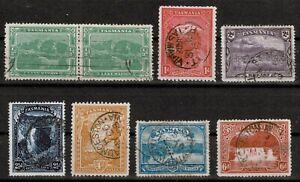 TASMANIA 1899-1900 x 8 Stamps SG 229-232 & SG 234-236
