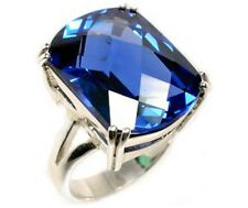 Blue Topaz Ring 27ct Handcut Medieval Medical Gem Arthritis Fever Falcon Engrave