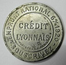 France - Credit Lyonnais 5 Centime. Encased postage stamp token (See Pics)