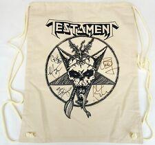 Testament Thrash Metal Band Autographed Drawstring Bag by All 5 Band Members