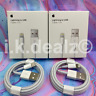 2 X Genuine iPhone Lightning To USB Cable 1M Apple Data Sync Lead 8 7 6S X XS SE