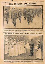 Troupe du Canada British Army Red Cross Croix Rouge Nurses France WWI 1914