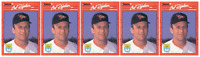 (5) 1990 Donruss Learning Series #19 Cal Ripken Baseball Card Lot Orioles
