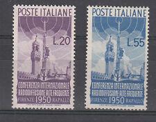 ITALIA 1950 RADIODIFFUSIONE 623-624 NUOVA GOMMA INTEGRA MNH** CERTIFICATO LUSSO