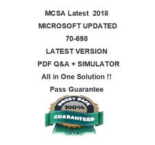70-698 Microsoft MCSA Installing And Configuring Windows 10 Test PDF & Sim