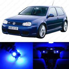 11 x Ultra Blue LED Interior Light Package For 1999 - 2005 VW Golf GTi R32 Mk4
