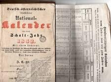 national kalender fur schalt jahr 1852 -