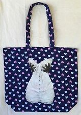 Thin Blue Love Heart Print Cotton Shopping With Funny Lace Corset Picture