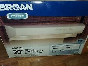 NEW BROAN ALLURE 30' DUCTED OR NON HOOD QS130BC BISQUE , NEW IN THE BOX