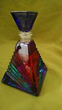 Art Deco style glass perfume bottle