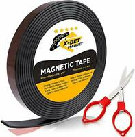 Flexible Magnetic Tape - 1,2 x 3 m Magnetic Strip with Strong Self Adhesive -