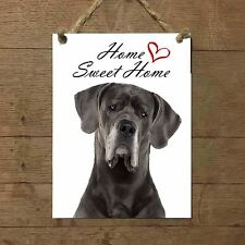 ALANO Home Sweet  home mod 1 Targa piastrella cartello ceramic tile dog