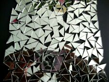 100 pieces Mosaic Silver Mirror Tiles Triangular approx 1 X 1 X 1.5 cm, 2 mm.