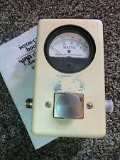 Struthers / Bird 43 Thruline Wattmeter Watt Element Slug Reading Meter / Nice