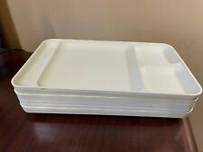 Tupperware Brand Vintage 8 Trays Off White Cream Dinner Camping Picnic Divided