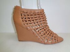 0e9ca18e0c6 Vince Camuto Size 9.5 M XYA Tan Brown Wedge Heels Caged Sandals New Womens  Shoes