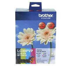 Genuine Brother LC39PVP Photo Value Pack (LC39BK LC39C LC39M LC39Y +Photo Paper)